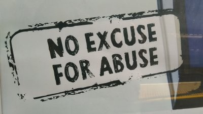 No Excuse for Abuse slogan image